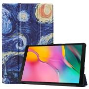 Δερμάτινη Θήκη Βιβλίο Tri-Fold με Βάση Στήριξης για Samsung Galaxy Tab A 10.1 (2019) SM-T510 / T515 - Έναστρη Νύχτα
