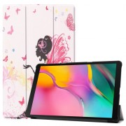 Pattern Printing Tri-fold Stand Leather Smart Case for Samsung Galaxy Tab A 10.1 (2019) SM-T515 - Beauty Pattern
