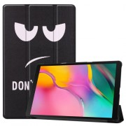 Pattern Printing Tri-fold Stand Leather Smart Case for Samsung Galaxy Tab A 10.1 (2019) SM-T515 - Do not Touch Me
