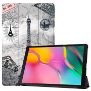 Δερμάτινη Θήκη Βιβλίο Tri-Fold με Βάση Στήριξης για Samsung Galaxy Tab A 10.1 (2019) SM-T510 / T515 - Πύργος του Άιφελ