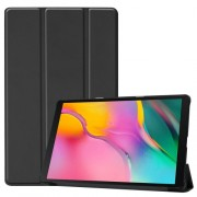 Δερμάτινη Θήκη Βιβλίο Tri-Fold με Βάση Στήριξης για Samsung Galaxy Tab A 10.1 (2019) SM-T510 / T515 - Μαύρο