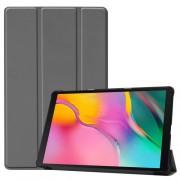 Δερμάτινη Θήκη Βιβλίο Tri-Fold με Βάση Στήριξης για Samsung Galaxy Tab A 10.1 (2019) SM-T510 / T515 - Γκρι