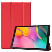 Δερμάτινη Θήκη Βιβλίο Tri-Fold με Βάση Στήριξης για Samsung Galaxy Tab A 10.1 (2019) SM-T510 / T515 - Κόκκινο