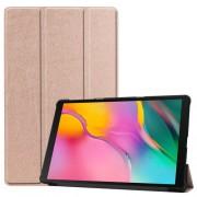 Δερμάτινη Θήκη Βιβλίο Tri-Fold με Βάση Στήριξης για Samsung Galaxy Tab A 10.1 (2019) SM-T510 / T515 - Ροζέ Χρυσαφί