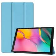 Δερμάτινη Θήκη Βιβλίο Tri-Fold με Βάση Στήριξης για Samsung Galaxy Tab A 10.1 (2019) SM-T510 / T515 - Γαλάζιο