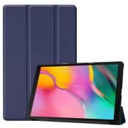 Δερμάτινη Θήκη Βιβλίο Tri-Fold με Βάση Στήριξης για Samsung Galaxy Tab A 10.1 (2019) SM-T510 / T515 - Σκούρο Μπλε