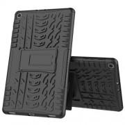 Υβριδική Θήκη Συνδυασμού Σιλικόνης TPU και Πλαστικού με Βάση Στήριξης για Samsung Galaxy Tab A 10.1 (2019) SM-T510 / T515 - Μαύρο