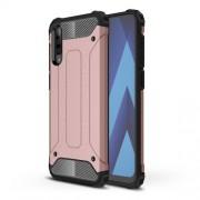 Tough Armor Υβριδική Θήκη Σιλικόνης TPU σε Συνδυαμό με Πλαστικό για Samsung Galaxy A70 - Ροζέ Χρυσαφί