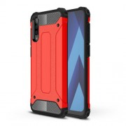 Armor Guard Plastic + TPU Hybrid Case for Samsung Galaxy A50 - Red