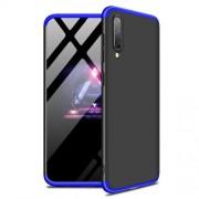 GKK 360 μοιρών Σκληρή Θήκη Ματ με Βελούδινη Υφή Πρόσοψης και Πλάτης για Samsung Galaxy A50 - Μαύρο / Μπλε