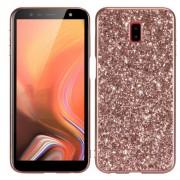 Θήκη Σιλικόνης TPU με Σκλήρη Πλάτη και Γκλίτερ για Samsung Galaxy J6 Plus - Ροζέ Χρυσαφί