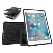 Υβριδική Θήκη Συνδυασμού Σιλικόνης TPU και Πλαστικού με Βάση Στήριξης για iPad mini (2019) / mini 4 - Μαύρο