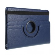 Litchi Texture PU Leather Protection Tablet Case with Stand for iPad mini (2019) 7.9 inch - Dark Blue