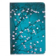 Tablet Case for iPad mini (2019) 7.9 inch Pattern Printing PU Leather Wallet Stand Shell - Tree with Flowers