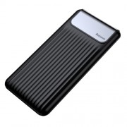 BASEUS Thin Portable QC3.0 10000mAh Type-C + Micro USB Dual-input Power Bank - Black