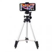 3110 Aluminum Adjustable Tripod Holder with Phone Clamp, Clamp Width: 57-83mm