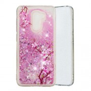 For Xiaomi Pocophone F1 / Poco F1 (India) Embossment Pattern Quicksand TPU Back Phone Case - Peach Blossom