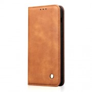 Auto-absorbed Crazy Horse Vintage Leather Cellphone Cover for Huawei Honor 10 Lite / P Smart (2019) - Brown