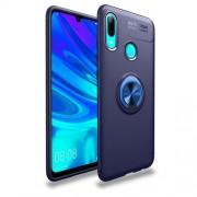 Υβριδική Θήκη Σιλικόνης TPU με Μεταλλικό Μαγνητικό Δαχτυλίδι που κάνει Βάση Στήριξης για Huawei P Smart (2019) / Honor 10 Lite - Σκούρο Μπλε