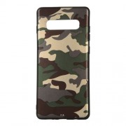Camouflage Pattern TPU Mobile Phone Shell for Samsung Galaxy S10 Plus - Green