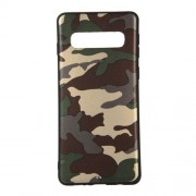 Camouflage Pattern TPU Mobile Phone Cover for Samsung Galaxy S10 - Green