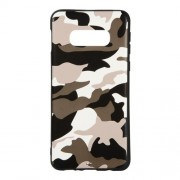 Camouflage Pattern TPU Back Casing for Samsung Galaxy S10e - White