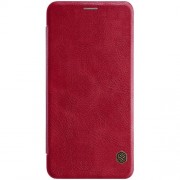 NILLKIN Qin Series Leather Card Holder Cover for Samsung Galaxy A7 (2018) - Red