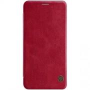 NILLKIN Qin Series Δερμάτινη Θήκη Πορτοφόλι για Samsung Galaxy A7 (2018) - Κόκκινο