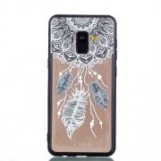 Rubberized Embossed Soft TPU + PC Combo Mobile Phone Accessory Cover for Samsung Galaxy A8 (2018) - Dream Catcher