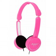 Children 3.5mm Foldable Wired Over-ear Headphone Stereo Headset with Mic - Pink