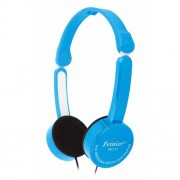 Adjustable Children 3.5mm Foldable Wired Over-ear Headphone Stereo Headset with Mic - Blue