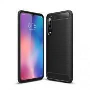 Carbon Fibre Brushed TPU Shell Case for Xiaomi Mi 9 - Black