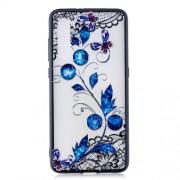 Θήκη Σιλικόνης TPU με Σκληρή Πλάτη για Xiaomi Mi 9 - Μπλε Λουλούδια και Πεταλούδες