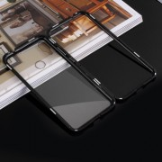 Detachable Magnetic Metal Frame + Tempered Glass Back Protection Cover for Xiaomi Redmi Note 7 / Note 7 Pro (India) - Black