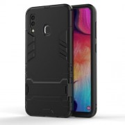 Cool Guard PC TPU Hybrid Back Casing with Kickstand for Samsung Galaxy A30/A20 - Black