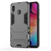 Cool Guard PC TPU Hybrid Back Casing with Kickstand for Samsung Galaxy A30/A20 - Grey