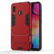 Cool Guard PC TPU Hybrid Back Casing with Kickstand for Samsung Galaxy A30/A20 - Red