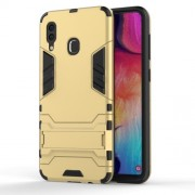 Cool Guard PC TPU Hybrid Back Casing with Kickstand for Samsung Galaxy A30/A20 - Gold
