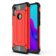 Armor Guard Plastic + TPU Hybrid Phone Shell for Huawei Honor 8A - Red