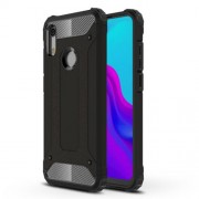 Armor Guard Plastic + TPU Hybrid Accessory Cover for Huawei Honor 8A - Black