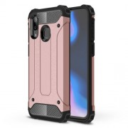 Armor Guard Plastic + TPU Hybrid Case for Samsung Galaxy A40 - Rose Gold