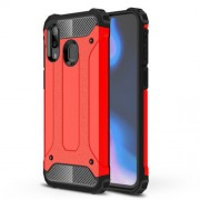 Armor Guard Plastic + TPU Hybrid Case for Samsung Galaxy A40 - Red