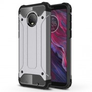 Armor Guard Hybrid Protective Case (Plastic + TPU) for Motorola Moto G6 Plus - Grey