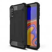 Armor Guard Hybrid Case Plastic + TPU Phone Cover for Samsung Galaxy A7 (2018) - Black