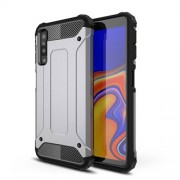 Armor Guard Hybrid Case Plastic + TPU Mobile Cover for Samsung Galaxy A7 (2018) - Grey