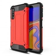 Armor Guard Plastic + TPU Combo Cell Phone Cover for Samsung Galaxy A7 (2018) - Red