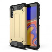 Hybrid Plastic + TPU Armor Guard Case Cover for Samsung Galaxy A7 (2018) - Gold