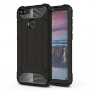 Armor Guard Plastic + TPU Hybrid Cell Phone Case for Huawei Honor 9 Lite / Honor 9 Youth Edition - Black