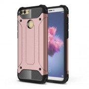 Armor Guard Plastic + TPU Hybrid Mobile Phone Shell for Huawei P Smart / Enjoy 7S - Rose Gold