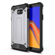 Cool Armor Guard Plastic + TPU Hybrid Phone Case for Samsung Galaxy J4+ - Grey